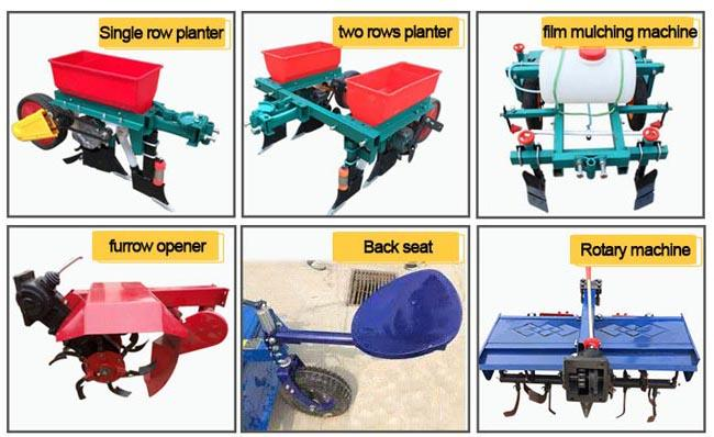 Small Hand Walk Behind Tractor Single Row Planter Walking Tractor