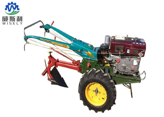 China Potato Harvester Walk Behind Tractor With Plough Four Stroke Engine Type supplier