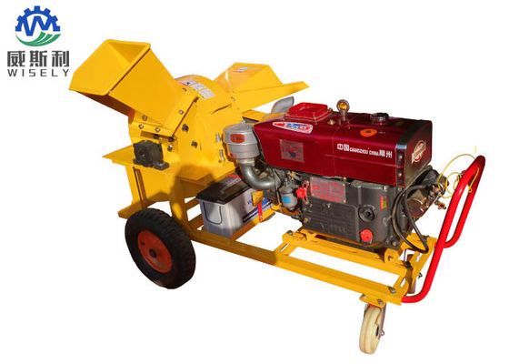 China 13hp Diesel Engine Home Wood Chipper Machine 1250 X 1300 X 950 mm Dimension supplier