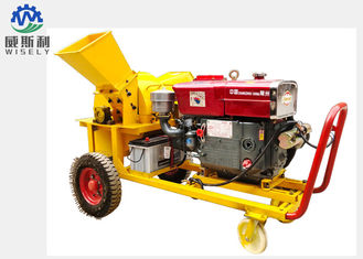China Mobile Modern Agriculture Machine , Fire Wood / Pallet Wood Chipper Machine supplier