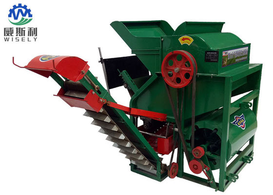 China Green Peanut Picking Machine With Electric Motor 950 X 950 X 1450 Mm Dimension supplier
