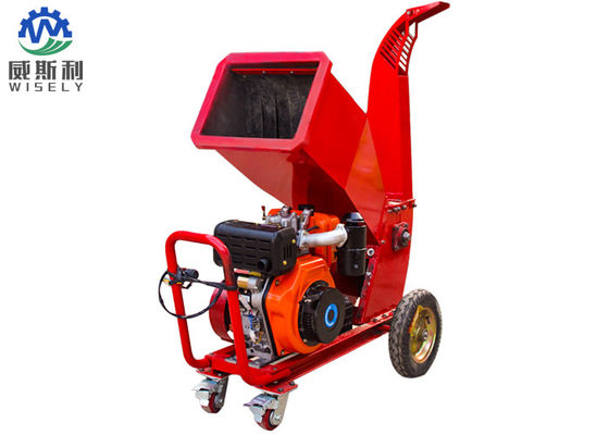 Small Agricultural Machinery Mobile Wood Chipper And Shredder With 15hp Diesel Engine