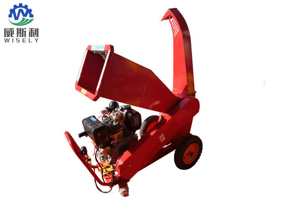 Portable Industrial Wood Chipper Machine With Adjustable Outlet ISO9001 Approval