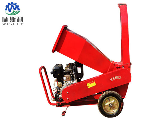 Hitch 3 Point Wood Chipper Machine With 15hp Diesel Engine Electric Start