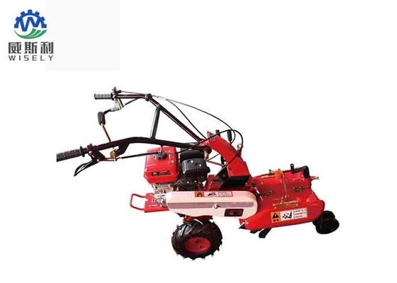 Agricultural Walk Behind Mini Garden Tiller Machine In Red Color , ISO Passed
