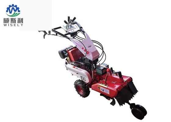 Small Rotary Cultivator Gasoline Mini Tiller Ditching Machine Low Noise