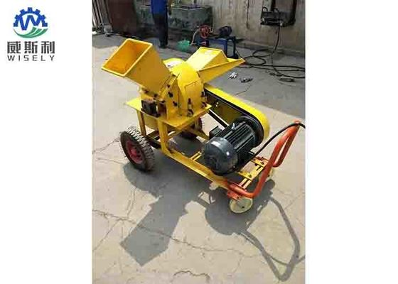 High Performance Wood Flour Crusher / Mobile Wood Chipper Customized Color