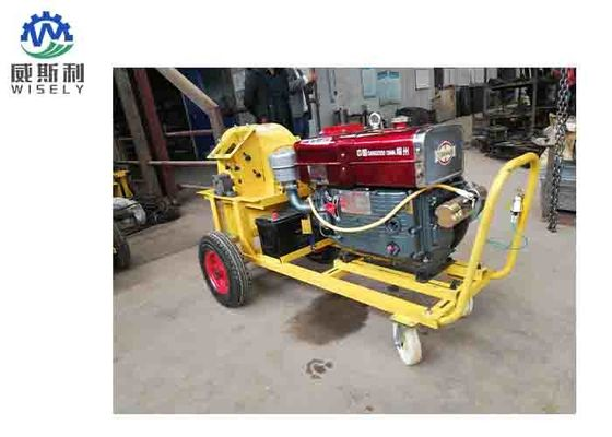 7.5 - 15KW Power Wood Powder Grinding Machine Tree Cutting Machine 420mm Cutter Diameter